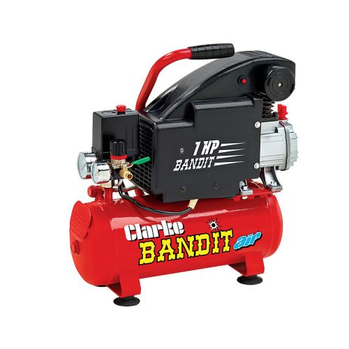 Clarke Bandit IV 8 Litre Air Compressor With Air Gun Kit 4.5cfm With 8 Litre Air Receiver 240V~50Hz